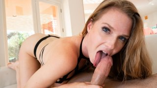 Blonde Babe Devours Cock – Throated