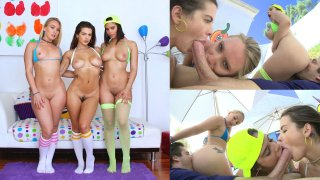 Aj, Keisha And Violet Get After It - Swallowed